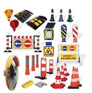 Trafik konileri, uyarı ve reklam levhalı koniler, uyarı duba ve dikmeleri, uyarı bariyerleri, hız kesiciler, trafik levhaları, özel yuvarlak levhalar, diğer trafik aksesuarları…
